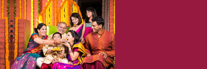 Indian Family Celebrating